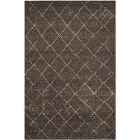 Safavieh Tunisia Dark Brown Rug - 4' x 6'