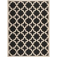 Safavieh Courtyard All-Weather Black/ Beige Indoor/ Outdoor Rug - 8' X 11'