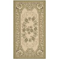 Safavieh Indoor/ Outdoor Courtyard Cream/ Green Rug - 2'7 x 5'