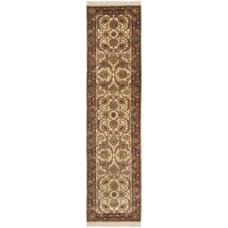 Safavieh Hand-knotted Dynasty Ivory/ Red Wool Rug (2'6 x 10')