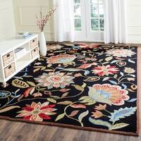 Safavieh Hand-Hooked Four Seasons Black/ Purple Polyester Rug - 8' x 10'