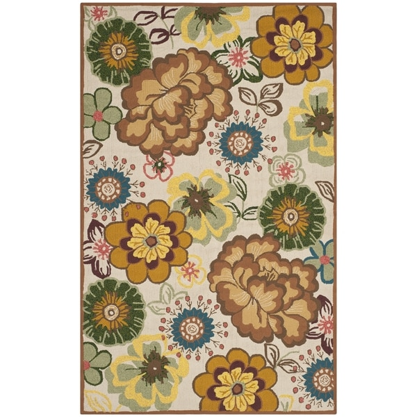 Safavieh Hand-Hooked Four Seasons Ivory / Brown Polyester Rug (5' x 8')