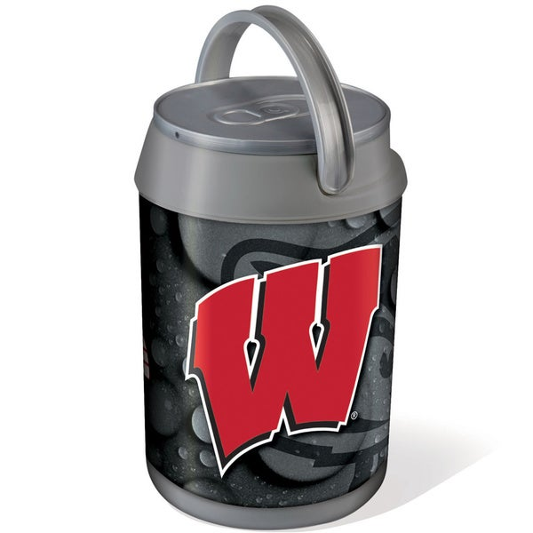 Picnic Time Silver University of Wisconsin Badgers Mini Can Cooler