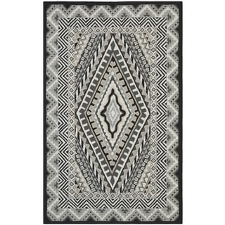 Safavieh Hand-Hooked Four Seasons Ivory / Grey Polyester Rug (5' x 8')