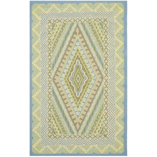 Safavieh Hand-Hooked Four Seasons Blue/ Yellow Polyester Rug (3'6 x 5'6)