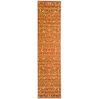 Safavieh Handmade French Tapis Multicolored Wool/ Silk Rug (2'6 x 10')