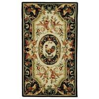 Safavieh Hand-hooked Chelsea Ivory/ Black Wool Rug (2'9 x 4'9)