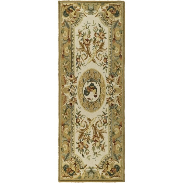 Safavieh Hand-hooked Chelsea Taupe Wool Rug - 2'6 x 12'