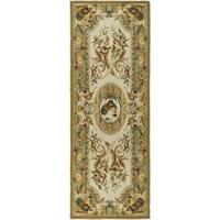 Safavieh Hand-hooked Chelsea Taupe Wool Rug - 2'6 x 8'