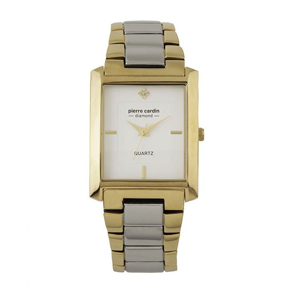 Pierre Cardin Men's PC900931002 Two-tone White Dial and Diamond Accent Watch