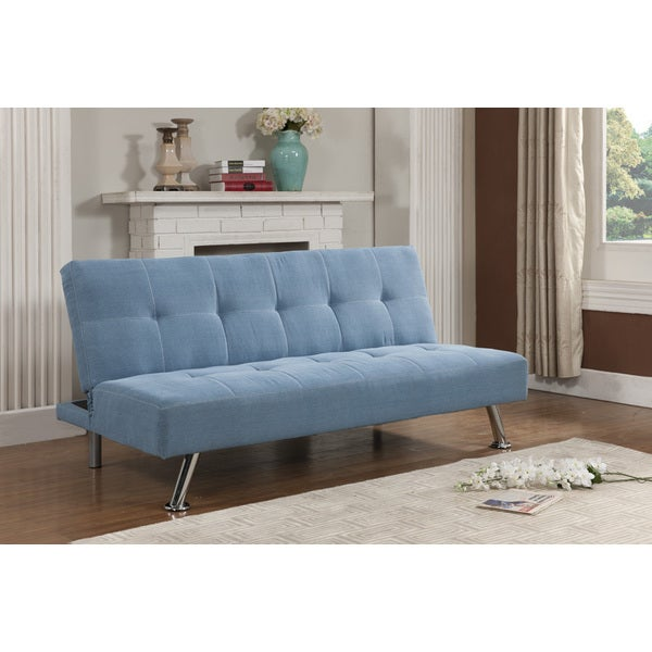Kb blue klik klak sofa bed free shipping today for Sectional sofa bed overstock