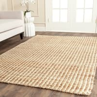Safavieh Casual Natural Fiber Hand-Woven Natural / Ivory Jute Rug - 5' x 8'
