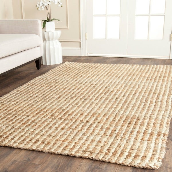 Safavieh Casual Natural Fiber Hand-Woven Natural / Ivory Jute Rug - 8' x 10'