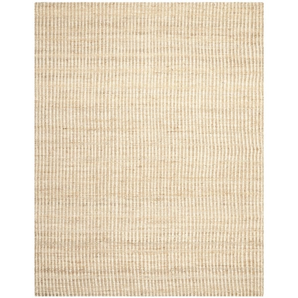 Safavieh Casual Natural Fiber Hand-Woven Natural / Ivory Jute Rug - 9' x 12'
