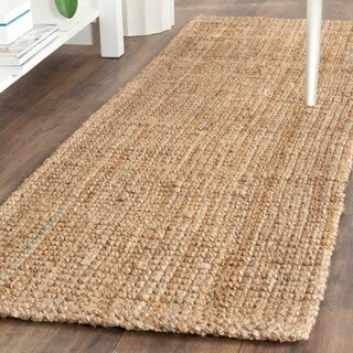 Safavieh Casual Natural Fiber Hand-Woven Natural Jute Rug (2'3 x 19')
