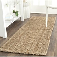 Safavieh Casual Natural Fiber Hand-Woven Natural Jute Rug - 2'3 x 7'