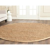 Safavieh Casual Natural Fiber Hand-Woven Natural Jute Rug - 5' Round