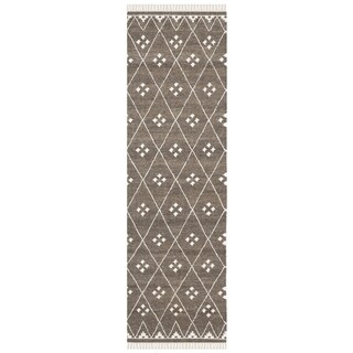 Safavieh Hand-woven Natural Kilim Brown/ Ivory Wool Rug (2'3 x 10')