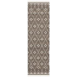 Safavieh Hand-woven Natural Kilim Brown/ Ivory Wool Rug (2'3 x 6')