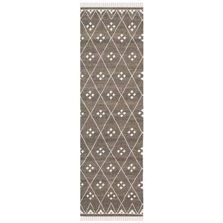 Safavieh Hand-woven Natural Kilim Brown/ Ivory Wool Rug (2'3 x 8')