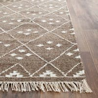 Safavieh Hand-woven Natural Kilim Brown/ Ivory Wool Rug (2'6 x 4')