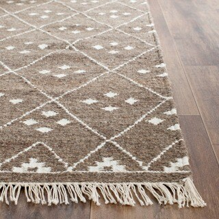 Safavieh Hand-woven Natural Kilim Brown/ Ivory Wool Rug (2'6 x 4')
