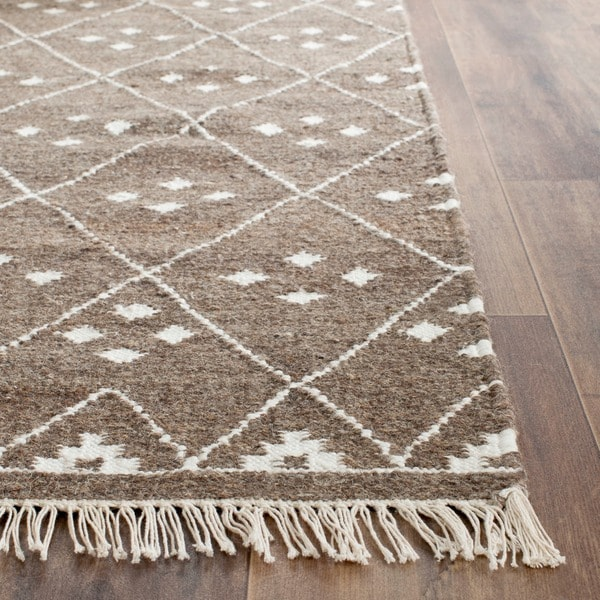 Shop Safavieh Hand Woven Natural Kilim Brown Ivory Wool