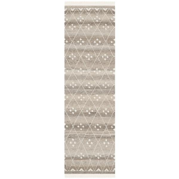 Safavieh Hand-woven Natural Kilim Natural/ Ivory Wool Rug - 2'3 x 10'