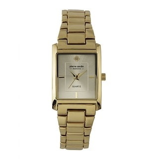 Pierre Cardin Women's Goldtone Metal and Diamond Accent Watch