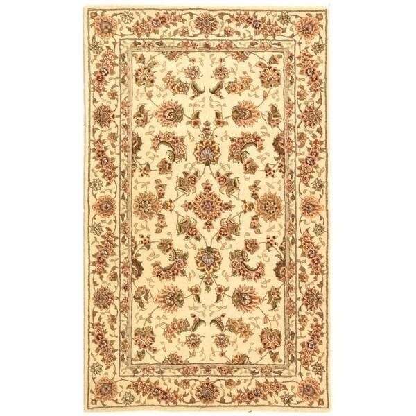 Shop Safavieh Handmade Persian Court Beige/ Beige Wool