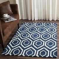 "Safavieh Handmade Moroccan Chatham Dark Blue/ Ivory Wool Rug - 8'9"" x 12'"