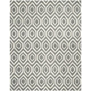 Safavieh Handmade Moroccan Chatham Dark Grey/ Ivory Wool Rug (10' x 14')