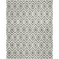 Safavieh Handmade Moroccan Chatham Dark Grey/ Ivory Wool Rug - 10' x 14'