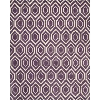 Safavieh Handmade Moroccan Chatham Purple/ Ivory Wool Area Rug (8' x 10')