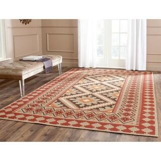 Safavieh Indoor/ Outdoor Veranda Red/ Natural Rug (4' x 5'7)