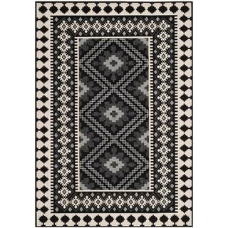 Safavieh Indoor/ Outdoor Veranda Black/ Cream Rug (8' x 11'2)
