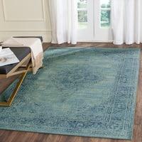 Safavieh Vintage Oriental Turquoise Distressed Silky Viscose Rug - 8'10 x 12'2
