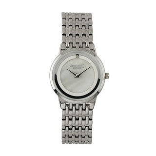Pierre Cardin Women's Silvertone and Diamond Accent Watch