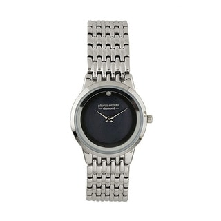 Pierre Cardin Women's PC900882001 Silvertone and Diamond Accent Watch