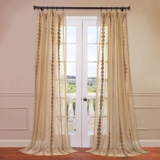 Exclusive Fabrics Cleopatra Gold Embroidered Sheer Curtain Panel (3 options available)