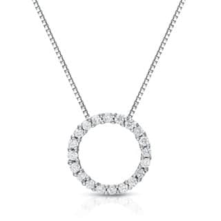 Auriya 14k White Gold Diamond Circle Necklace|https://ak1.ostkcdn.com/images/products/8398580/P15699841.jpg?impolicy=medium