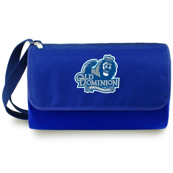 Picnic Time Old Dominion University Monarchs Navy Blanket Tote - Blue