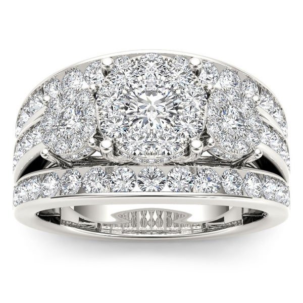 De Couer 10k Gold 2ct TDW Diamond Ring