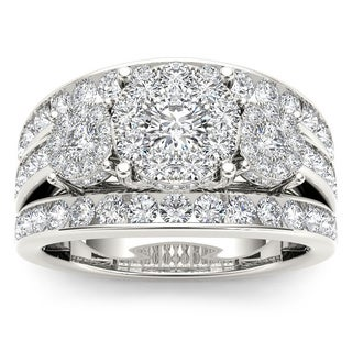 De Couer 10k White Gold 2ct TDW Diamond Ring (H-I, I2)
