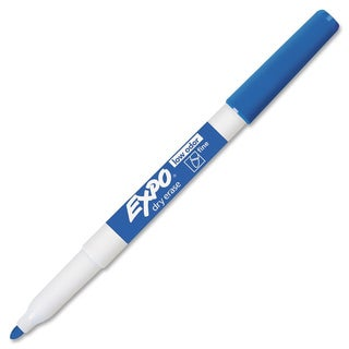 Low Odor Dry Erase Marker Fine Point Blue Dozen