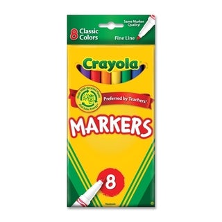 Non-Washable Markers Fine Point Classic Colors 8/Set