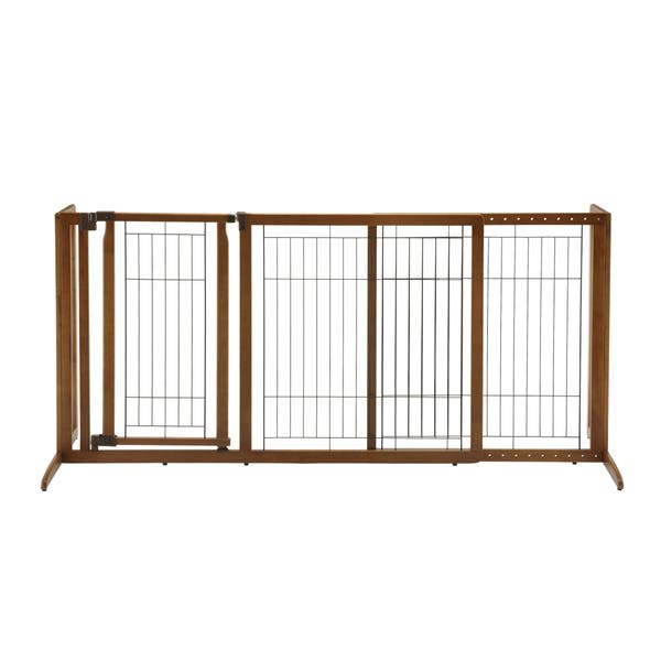 Richell Deluxe Freestanding Pet Gate Free Shipping