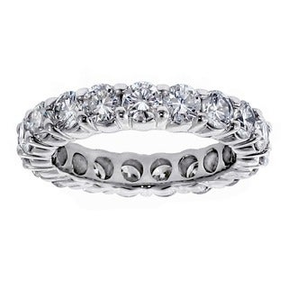 14k/ 18k White Gold 3ct TDW Diamond Eternity Wedding Band