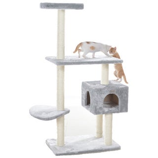 GleePet 56-inch Tiered Faux-Fur Cat Tree With Perch and Cat Condo