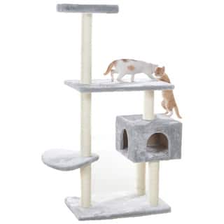 GleePet 56-inch Tiered Faux-Fur Cat Tree With Perch and Cat Condo|https://ak1.ostkcdn.com/images/products/8398751/P15700055.jpg?impolicy=medium